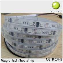factory produce DC12V 10W 48leds/m magic rgb led flexible strip ws2801