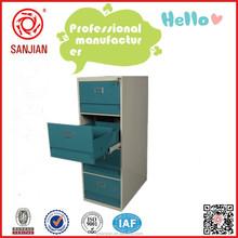SJ-086 knock down 4 drawer light green metal filing cabinet