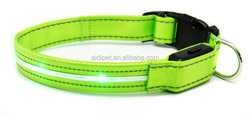 Waterproof CE RoHS dog safety led collar, led collar for dog