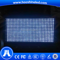 digital 32x16pixels white color adverting board led pantallas