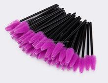 Purple color disposable mascara brush, eyelash brush, 50pcs into PVC tube