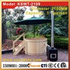 2.1m 3~7 people Chinese Red cedar outdoor wood fired hot tub on sale