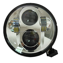"""5.75"""" Motorcycle 40W Projector High/Low Chrome LED Head lamp Headlight for Harley Motorcycle Daymaker"""