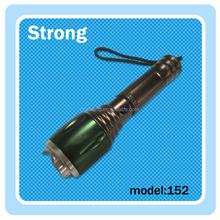 green 700 lumen zoomable led rechargeable flashlight