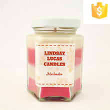 Promotional Custom Scented Soy Class Candle with lid