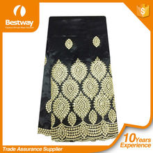 GP0052 black embroiderry George lace for party /black lace saree