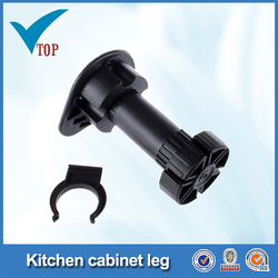 Plastic leg for cabinet adjustable plastic leg VT-06.006