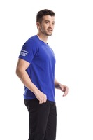 Handsom mens blue crew neck short sleeve cottons unisex T shirts