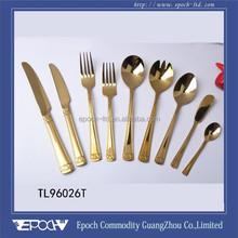2014 new design gold color titanuim coated canada dinnerware