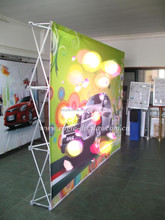 Cosmetic Velcro Exhibition Pop Up Booth Displays Stands