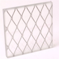 Factory Safety Wired mesh Glass, polished wired glass