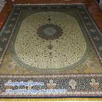 Chinese 8x10ft handknotted persain silk tabriz rug
