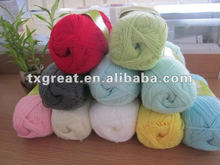 soft dyed 100%acrylic crochet fancy yarn on balls