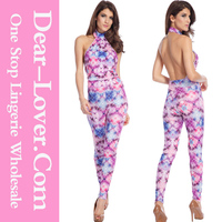 Women's New arrival sexy Glowing Floral Jumpsuit