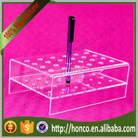 24 bins Acrylic Eyebrow Pencil Holder Pen Display Rack,Clear Colur