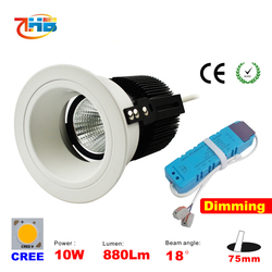 10W Dimmable Warm White LED Downlight Ceiling Light Bulb white paint New