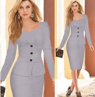 2015 Long sleeve ladies official dresses