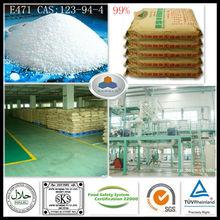 dispersing emulsifier e471 glycerol monostearate China Large Manufacturer CAS:123-94-4,C21H42O4,HLB:3.6-4.0, 99%GMS