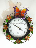 Butterfly garden decorative outdoor clock