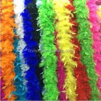 Factory supply 2 Meters long 40g Colourful Marabou Feather Boa For Burlesque Fancy Dress Party Boas
