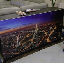 High Gloss Modern Design Custom Made Waterproof Large Luxury Aluminum Shoe Cabinet