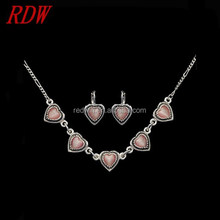 RDW Jewelry Set Custom Bride Heart Jewelry Sets Fashion Model Antique Color Bride Wedding Heart Jewelry Sets