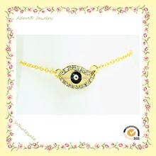 Wb150922-3 Yiwu adoran la aleación de moda turquía Evil pulsera del ojo, joyería de mal de ojo, turquía del ojo malvado de venta al por mayor