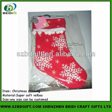 Funny decorative snowflake christmas stocking