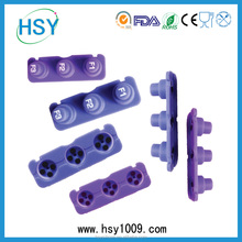 OEM durable China supplier low price silicone keypad /button/keyboard in small quantity