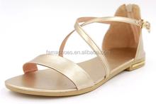 Lastest perfect unique lady sandals customize design flat bottom fantastic lady sandals wedge heel lady shoes