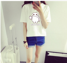 women wholesale cheap t-shirt,2015 beautiful casual t-shirt,baymax t-shirt