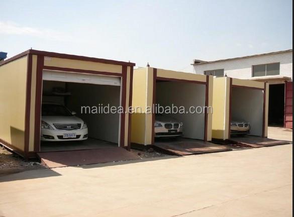 Chinois structure en acier de voiture garage shipping for Container garage voiture