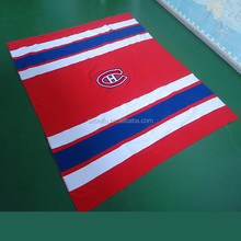 China factory trade insurance piece blanket with embroidery logo anti pilling fleece 100% polyester blanket