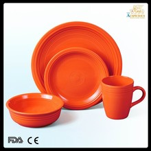 16pcs color glazed stoneware dinner set, colorful ceramic dinnerware