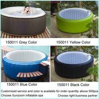 SUNZOOM oval double spa cheap whirlpool bathtub,plastic bathtub,portable bathtub