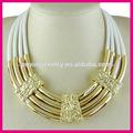 alta qualidade mulheres indianas traje jóias grosso cordão de cera colar declaração chunky