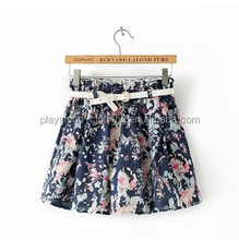 elegant new design fashion floral printed mini women skirt pretty ladies skirt