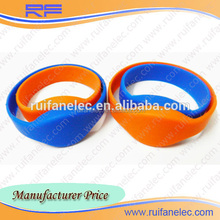 Hot sale adult/kid hf/13.35mhz silicone wristbands with best chip