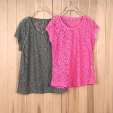 4876# Women's beautiful summer t-shirt cheap china stock clothing wholesale women petty lace t-shirt
