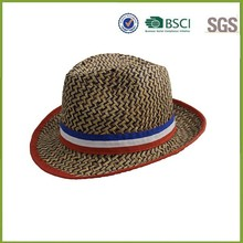 Wholesale High Quality France Flag Paper Straw Hat