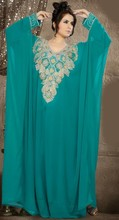 Wholesale evening dresses from dubai RK01 elegant beading o neck dubai kaftan plus size