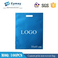 Blank non woven fabric bag grocery bag 35x45 cm