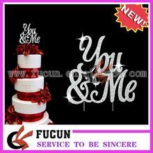 sparkle YOU & ME rhinestone wedding cake topper