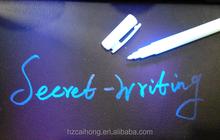 2015 magic design jade color uv invisible ink pen with uv light combo CH-6001
