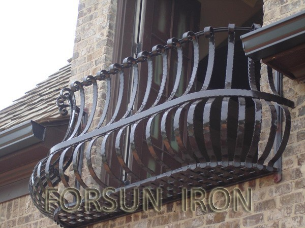 Balcony grill designs made in forged iron buy iron grill for Balcony full grill design