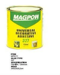Synthetic rubber cement for decoration inside room