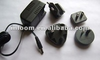 12VDC 0.5A AC/DC adapter with inter-change plug
