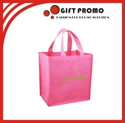 Hot Selling Pink Non Waven Reusable Shopping Bags
