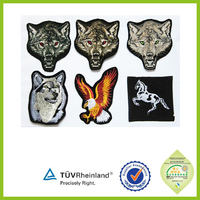 Decorative bullion embroidery logos patches for clothing