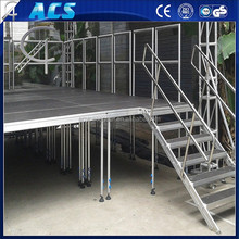 2015 hot selling high quality aluminium mobile stage, four leg stage,aluminum four legs simple assemble stage